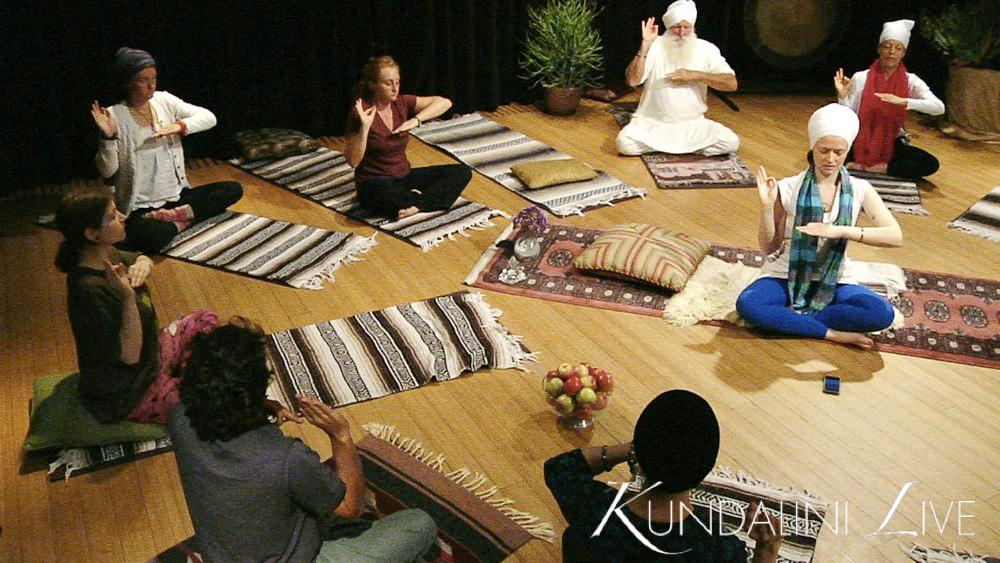 mudra meditation guided yoga class group