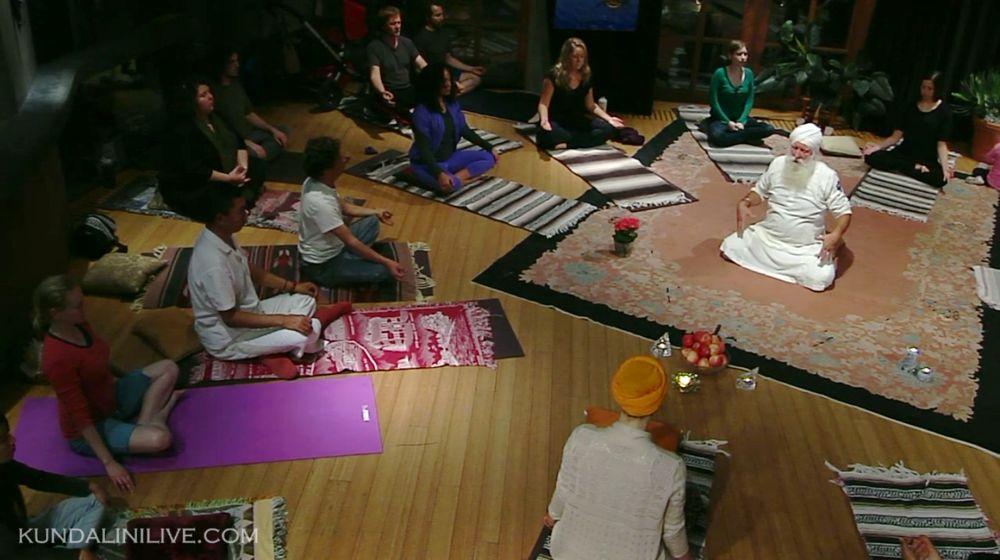 guru singh addresses class yoga classroom